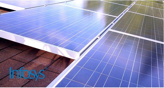 Infosys is installing a 55MW solar PV plant
